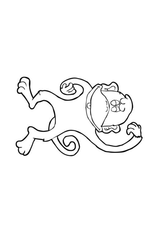 kleurplaat aap afb 13841