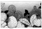 Kleurplaat aardbeien