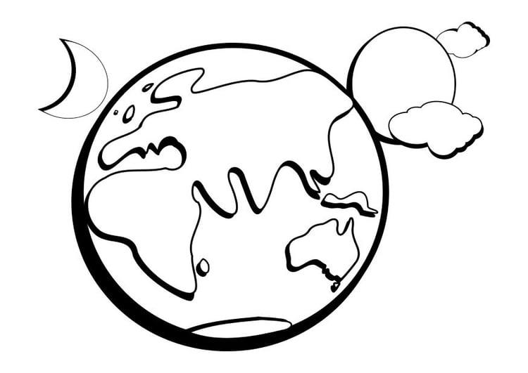 kleurplaat aarde afb 14337 images