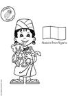 Kleurplaat Abebi Nigeria