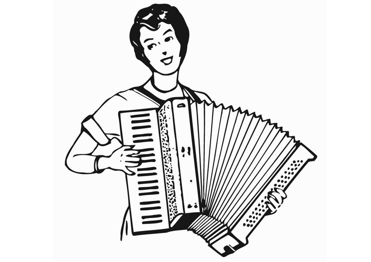 Kleurplaat accordeon