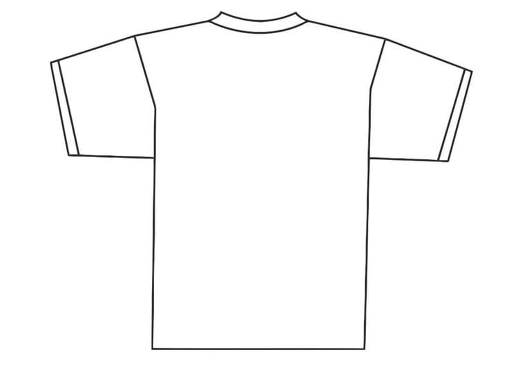 kleurplaat achterkant t shirt gratis kleurplaten om