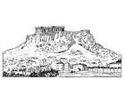 Kleurplaat Acropolis
