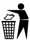 Kleurplaat afval