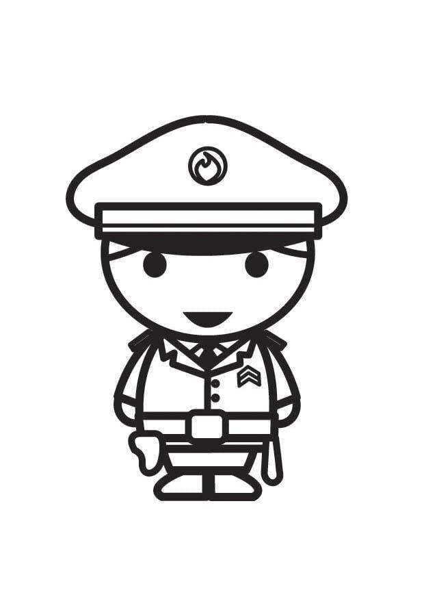 Kleurplaten Politieagent.Kleurplaat Agent Afb 18269