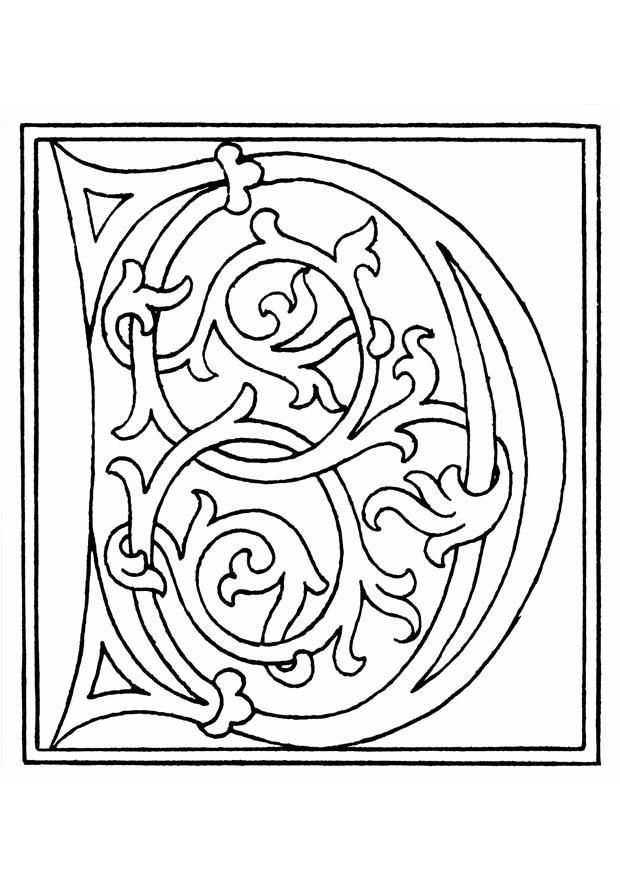 kleurplaat 01a alfabet d gratis kleurplaten om te printen