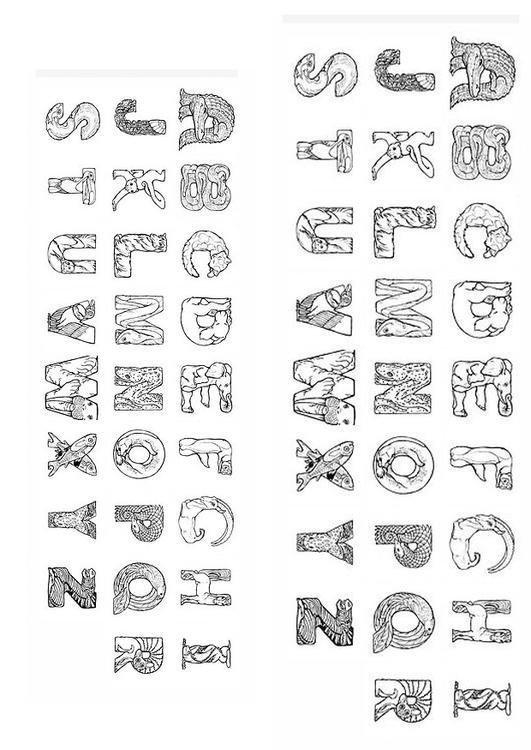 Afbeeldingen Kleurplaat Alfabet Kleurplaat Alphabet Afb 24825