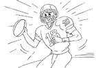Kleurplaat American football