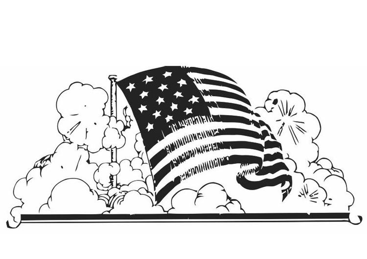 kleurplaat amerikaanse vlag gratis kleurplaten om te printen