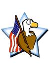 Afbeelding Amerikaanse vlag met adelaar