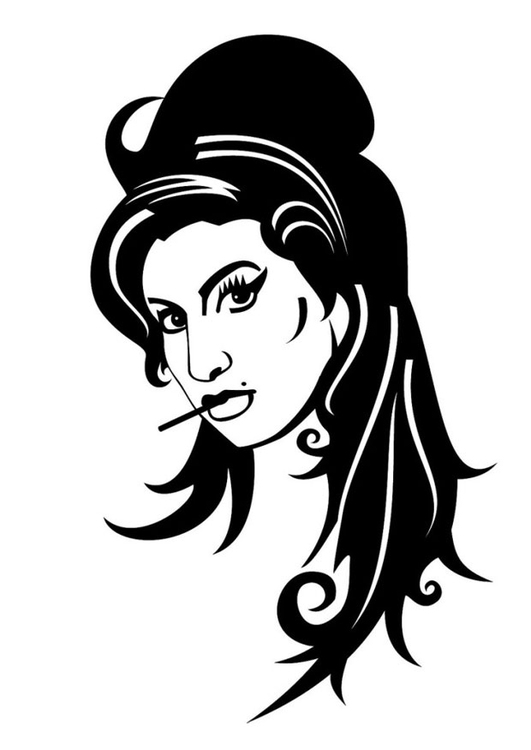 Kleurplaat Amy Winehouse