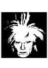 Kleurplaat Andy Warhol
