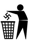 Kleurplaat antifascisme logo