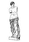 Kleurplaat Aphrodite