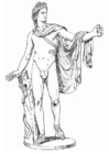 Kleurplaat Apollo, een Griekse god