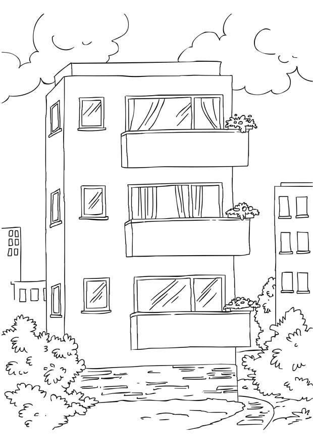 Kleurplaat Nieuwe Woning Kleurplaat Appartement Afb 26228 Images