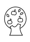 Kleurplaat appelboom