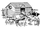 Kleurplaat ark van Noah
