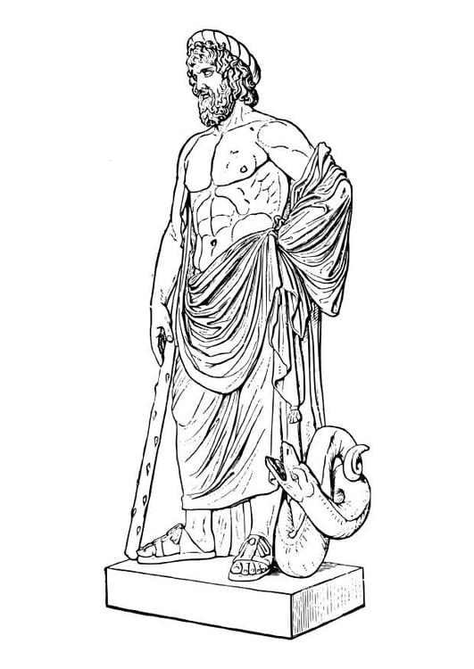 Kleurplaat Asklepios Afb 18620