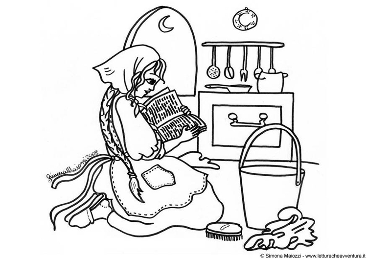 Kleurplaten Assepoester Sprookje.Kleurplaat Assepoester Afb 12408