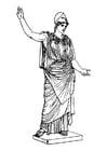 Kleurplaat Athena
