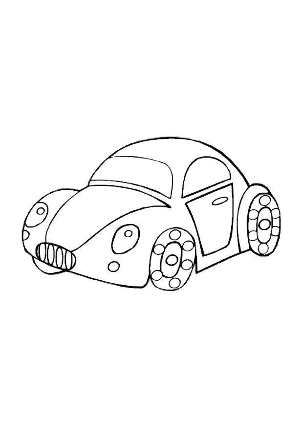 kleurplaat speelgoed auto