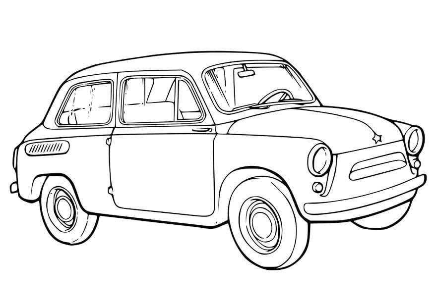 Grote Kleurplaten Auto.Kleurplaat Auto Afb 15761