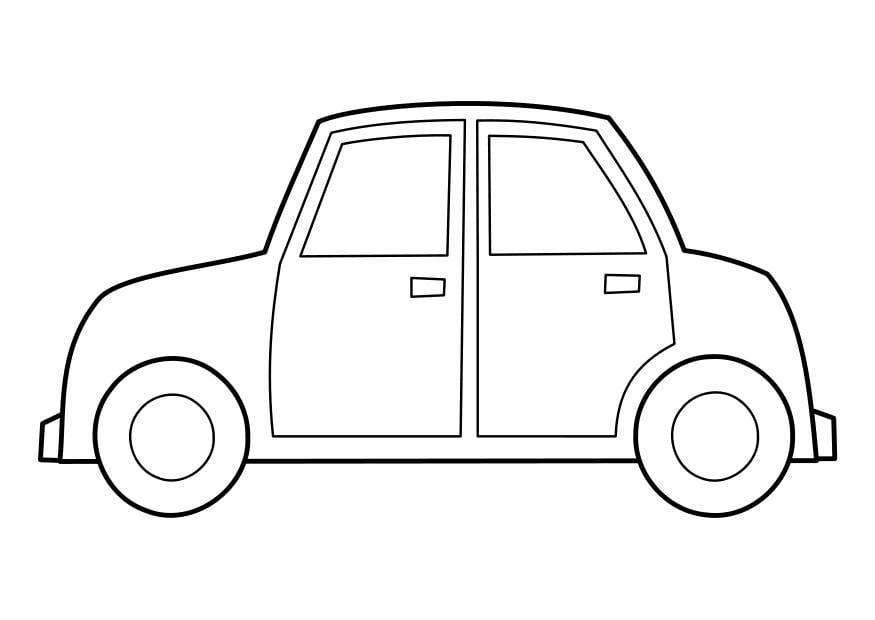 kleurplaat auto afb 22848