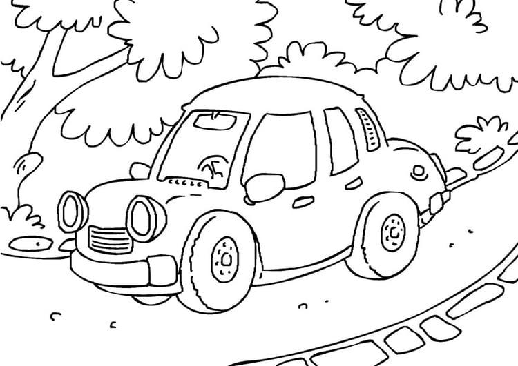 Kleurplaat Auto Afb 27174