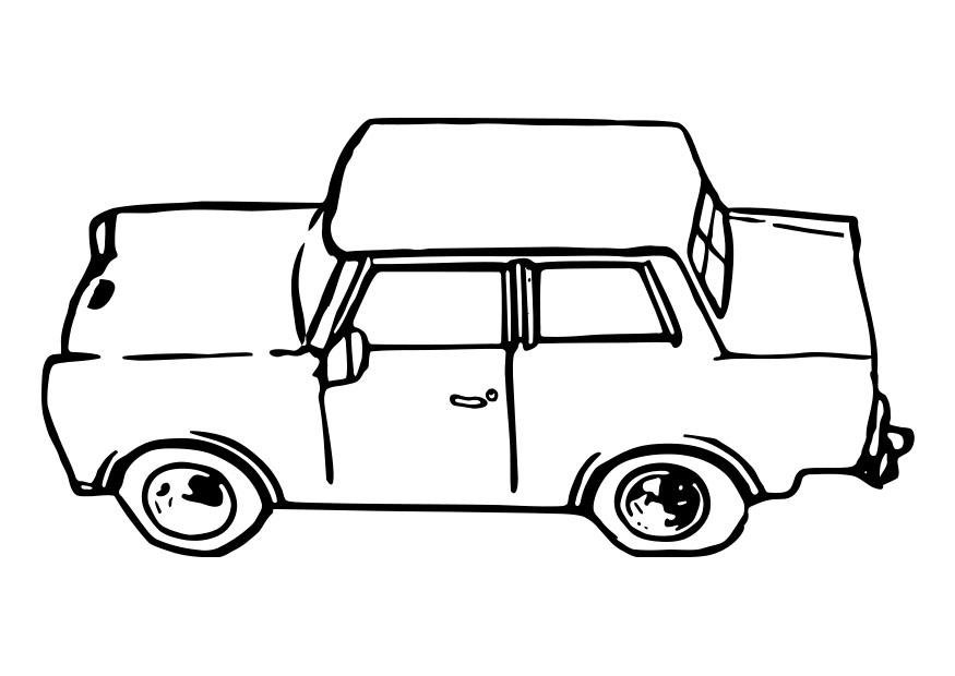 Grote Kleurplaten Auto.Kleurplaat Auto Trabant Afb 29109