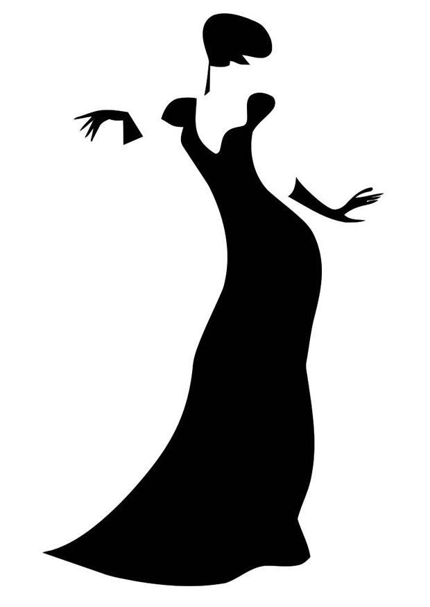 Схема для вышивки крестом Леди в черном. Прокомментировать запись Тэ