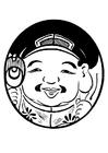 Kleurplaat aziatisch figuur