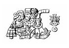 Kleurplaat azteken - begrafenis