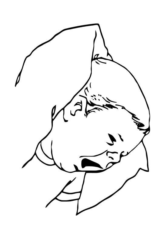 Kleurplaat Baby Afb 11890