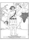 Kleurplaat Bacchus - Dionyssus