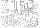 Kleurplaat badkamer