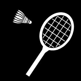 kleurplaat badminton afb 14177