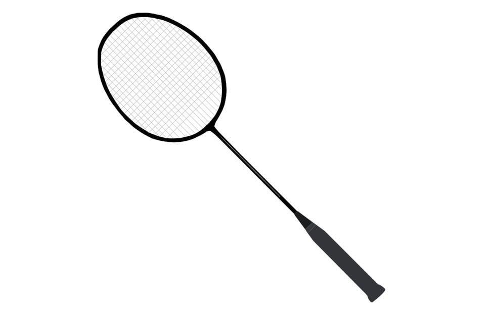 Kleurplaat badminton racket afb 22712 - Raquette dessin ...