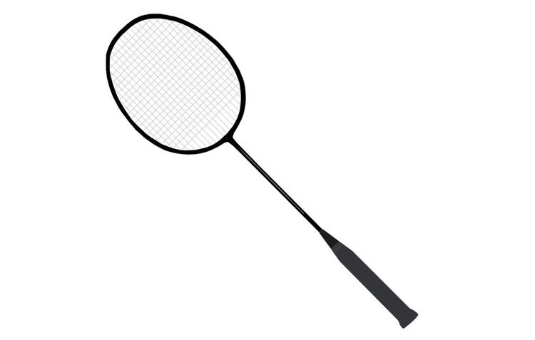 kleurplaat badminton racket afb 22712