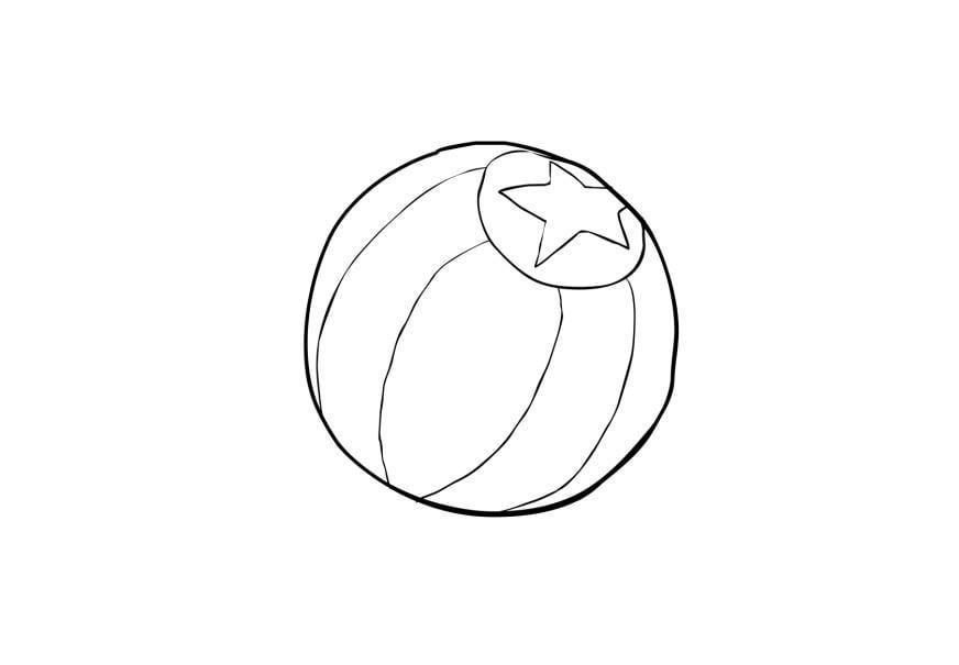 kleurplaat bal afb 13775