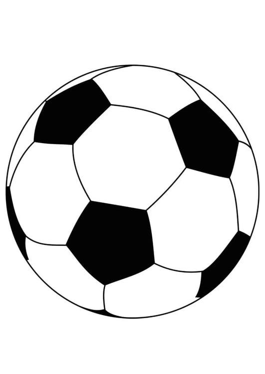 Kleurplaten Van Een Voetbal.Kleurplaat Bal Voetbal Afb 15759