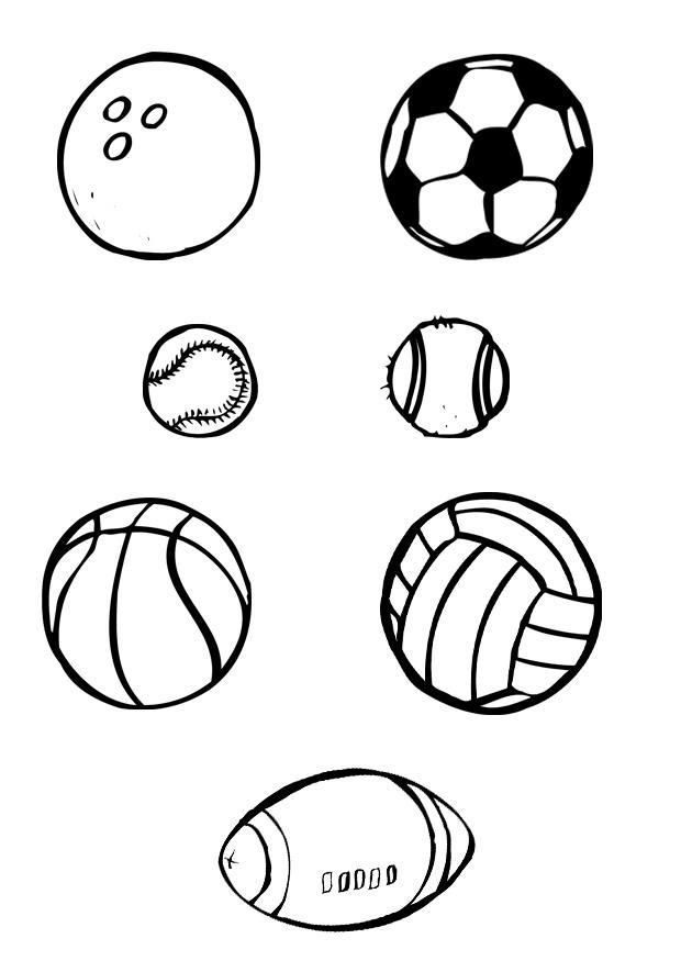 Kleurplaat Ballen Sport