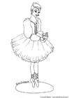 Kleurplaat ballerina