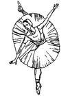 Kleurplaat ballerina - balet