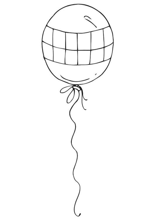 Kleurplaat Met Ballonnen Kleurplaat Ballon Afb 12542 Images