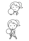 Kleurplaat balsport