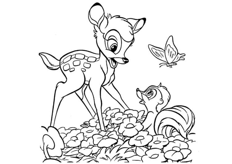 Kleurplaat Bambi Afb 20747