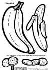 Kleurplaat banaan