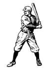 Kleurplaat baseball