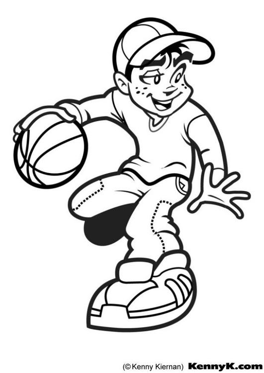 kleurplaat basket gratis kleurplaten om te printen